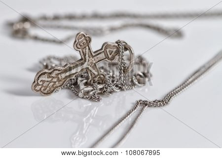 Old Orthodox Church Silver Cross