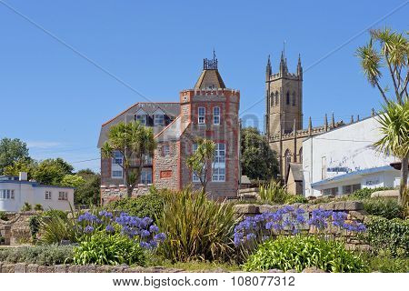 Cityscape In The Medieval Town Penzance, Cornwall, England
