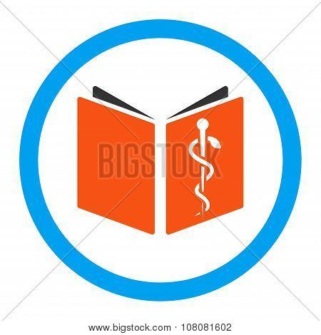 Drug Handbook Rounded Glyph Icon
