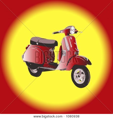 Scooter - Vector Illustration