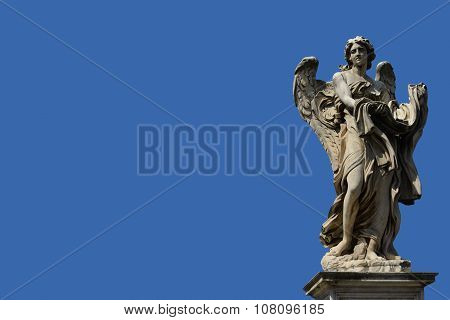 Angel With Blue Sky And Copy Space