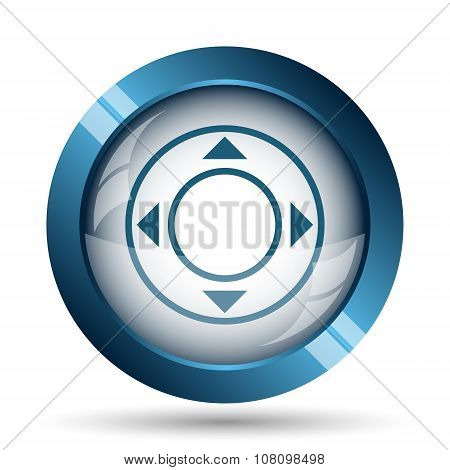Joystick icon. Internet button on white background. poster