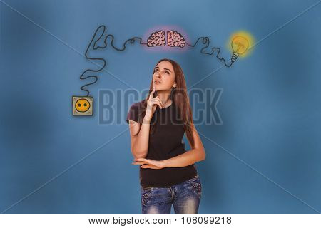 woman he conceived and put her hand on his chin brain booster ch