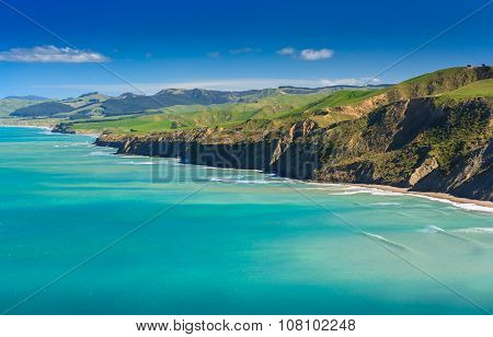 Green Hills And Sea Landscape