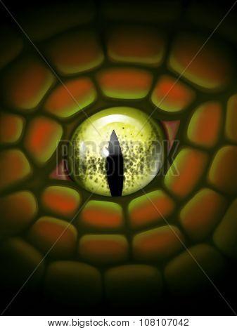 Illustration - Dragon eye