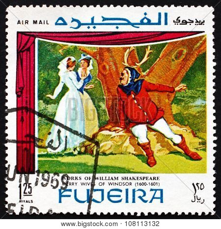 Postage Stamp Fujeira 1969 The Merry Wives Of Windsor