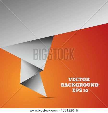 Abstract Origami Speech Vector Background Eps 10