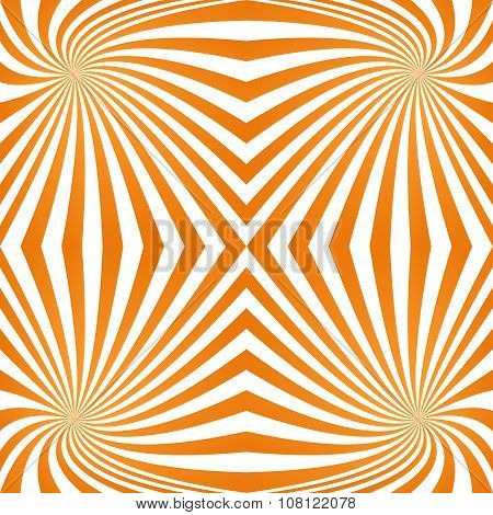 Orange quadrant spiral pattern background