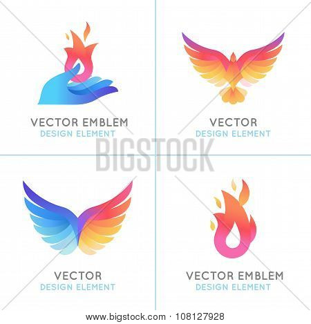 Phoenix Birds And Fire Icons