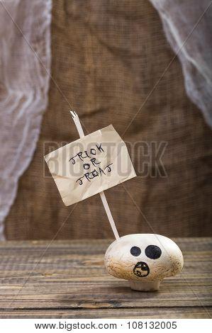 Treat Or Trick Halloween Champignon