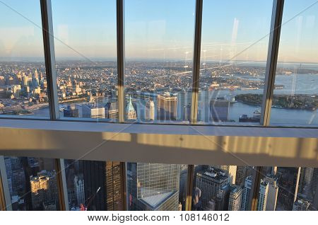 NEW YORK, NY - OCT 10: One World Trade Center Observation Deck in New York, as seen on Oct 10, 2015. It is the tallest skyscraper in the Western Hemisphere.
