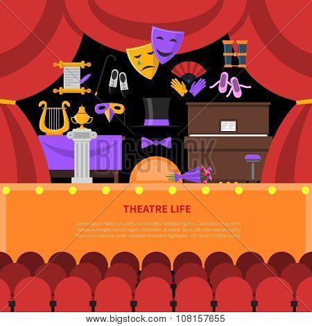 Theatre Life Concept Background