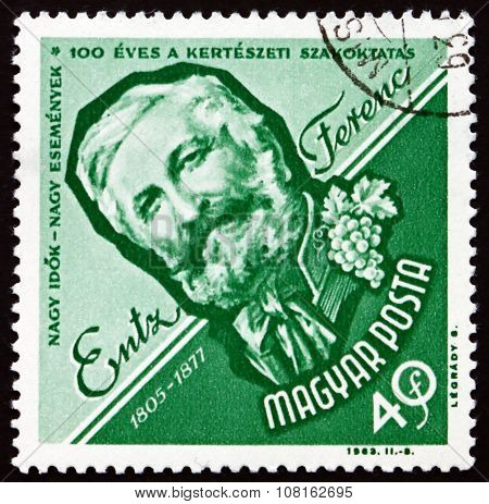 Postage Stamp Hungary 1963 Entz Ferenc, Horticulturist