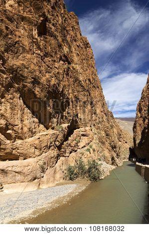 Mountain pass in Dades Gorges, Atlas Mountains, Morocco poster