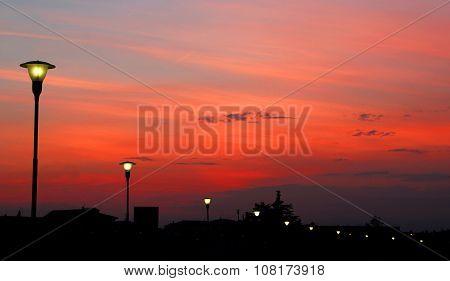 Sunset Along The River Adige Verona