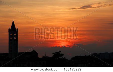Sunset In Verona