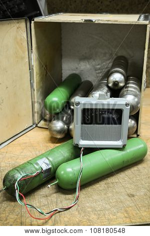 time bomb, improvised explosive devices prepared for mission, bomb operation.time bomb