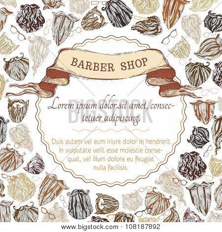 Barber Shop Background. Fashion Man Beards Background.