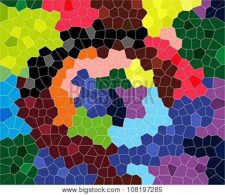 The cheerful wall mosaic