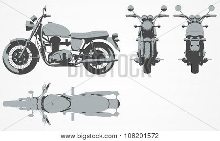Front, top, back and side chopper projection