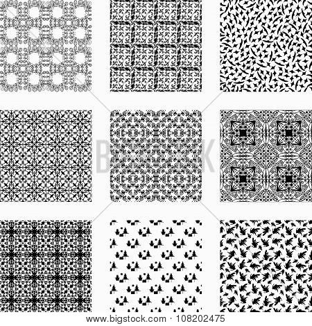 9 Universal Different Vector Seamless Patterns
