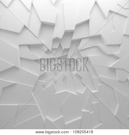 Geometric color abstract polygons wallpaper, as crack wall
