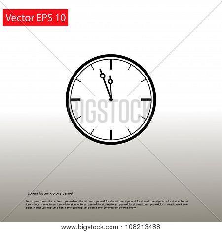 Clock Showing The Approaching 12