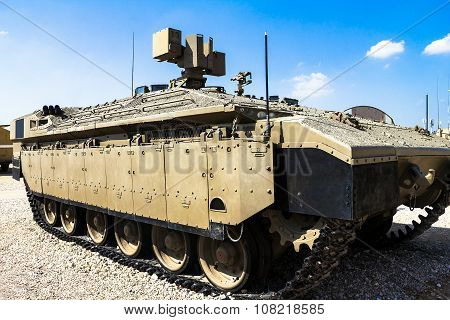 Israeli Made Namer Heavy Armored Personnel Carrier. Latrun, Israel