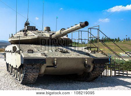 Israel Made Main Battle Tank Merkava  Mk Iv.   Latrun, Israel