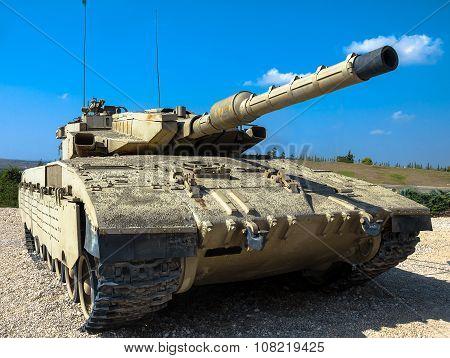 Israel Made Main Battle Tank Merkava  Mk Iii . Latrun, Israel