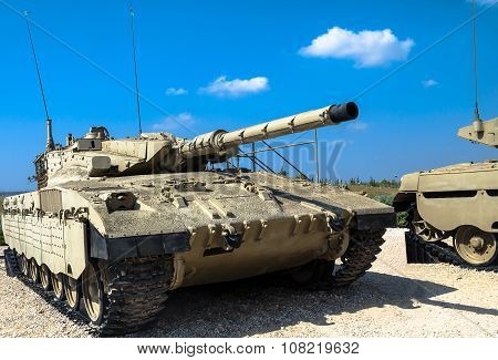 Israel Made Main Battle Tank Merkava  Mk Ii. Latrun, Israel
