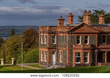 Cultra Manor over looking Belfast, Northern Ireland poster