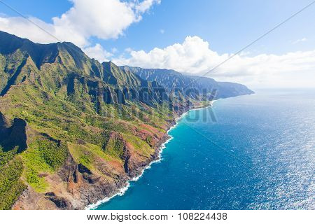 Kauai From Helicopter