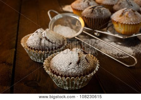 Muffins And Baking Sieve