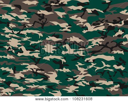 Cover Camouflage Green