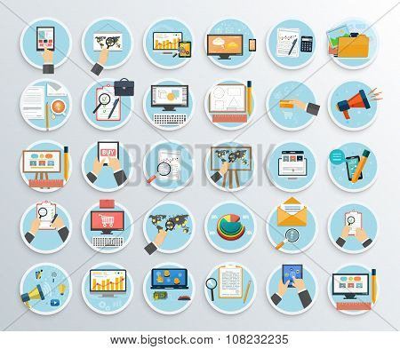 Set of Business Promotion, Internet Shopping