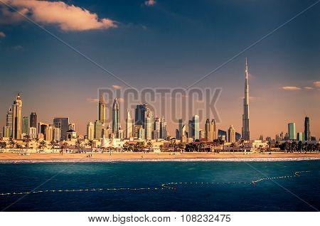 Skyline Downtown in Dubai, United Arab Emirates