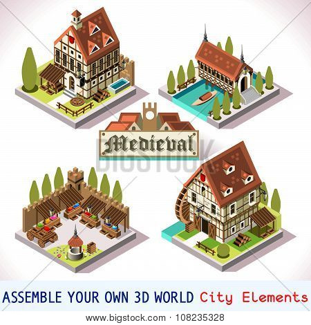 Medieval 03 Tiles Isometric