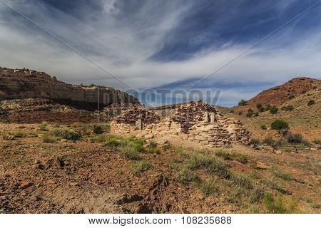 Miner Cabin At Abandoned Radium Mine In Utah