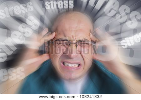 Adult Man Under Severe Stress