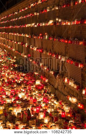 Candles on the wall