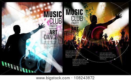 Night party, vector illustration for poster or banner