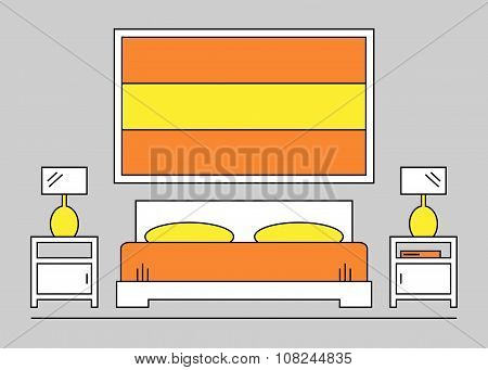 Bedroom. Bedroom interior.