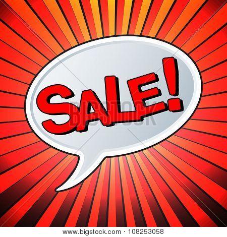 Sale Text Bubble