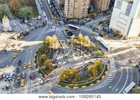 Columbus Circle, Central Park South - New York City