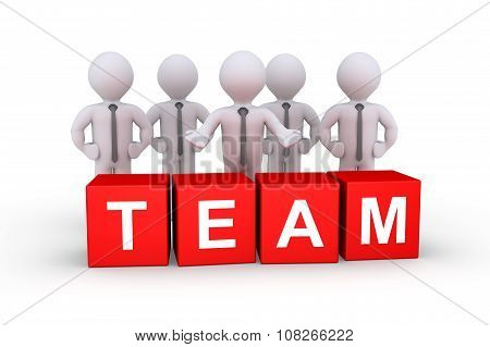 Businessmen As Team