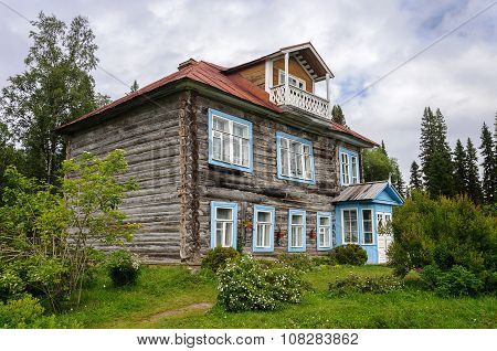 Old Log House Among The Trees
