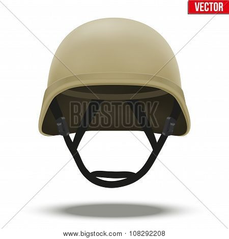 Military tactical helmet desert color