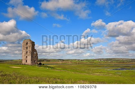 Old Ancient Decay Irish Castle In County Clare Ireland