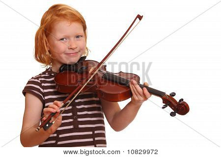 Girl plays violin